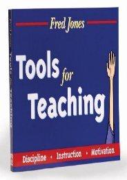 Tools for Teaching: Discipline, Instruction, Motivation