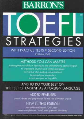 TOEFL Test Strategies: With Practice Tests