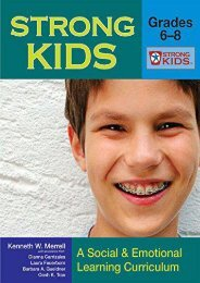 Strong Kids - Grades 6-8: A Social   Emotional Learning Curriculum: Middle - A Social and Emotional Learning Curriculum for Students in Grades 6-8 (Strong Kids Curricula)