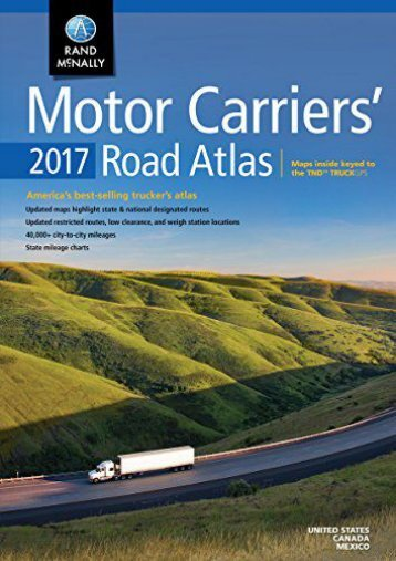 Motor Carriers  Road Atlas (Rand Mcnally Motor Carriers  Road Atlas)