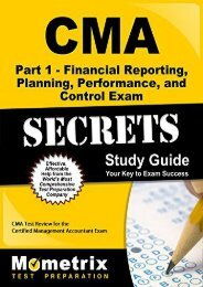 CMA Part 1 - Financial Planning, Performance and Control Exam Secrets, Study Guide: CMA Test Review for the Certified Management Accountant Exam