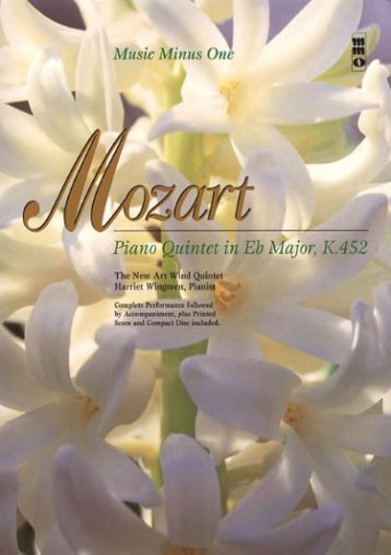 Mozart: Piano Quintet in E-Flat Major, K. 452 (Music Minus One (Numbered))
