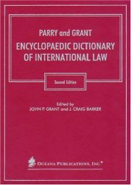 Parry   Grant Encyclopaedic Dictionary of International Law
