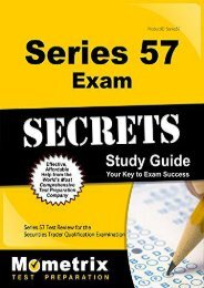 Series 57 Exam Secrets Study Guide: Series 57 Test Review for the Securities Trader Qualification Examination