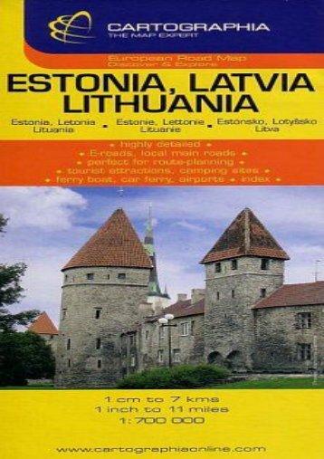 Estonia, Latvia, Lithuania (Country Map)