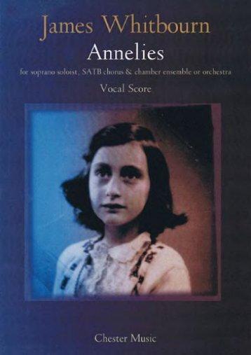 James Whitbourn: Annelies (Vocal Score)