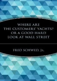 Yachts C: Or a Good Hard Look at Wall Street (A Marketplace Book)