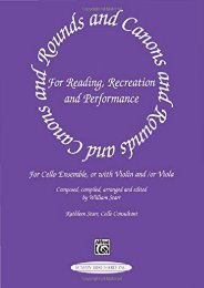 Rounds and Canons for Reading, Recreation and Performance: For Cello Ensemble or with Violin and/or Viola