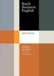 Teach Business English (Cambridge Handbooks for Language Teachers)