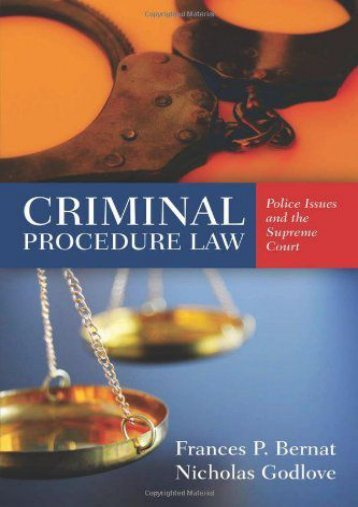Criminal Procedure Law