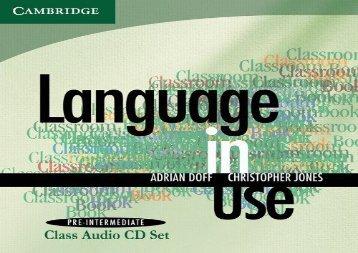 Language in Use Pre-Intermediate New Edition Class Audio CDs (2)
