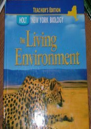 Biology New York Grades 9-12: The Living Environment
