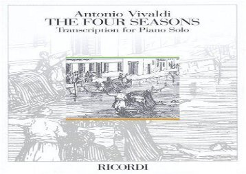 The Four Seasons Op8 Nos. 1-4 - Transcribed for Piano Solo (English Text)
