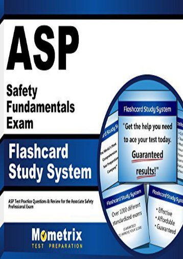 ASP Safety Fundamentals Exam Flashcard Study System: ASP Test Practice Questions and Review for the Associate Safety Professional Exam