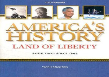 American History Land of Liberty: Student Reader, Book 2 (America s History)