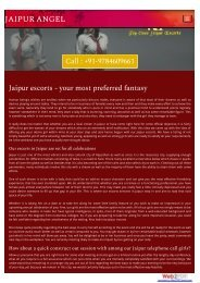 Jaipur Female Escorts | Jaipur Escorts | Independent Female Jaipur Escorts