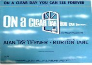 On a Clear Day You Can See Forever - Vocal Selection   Piano  (sheet music)