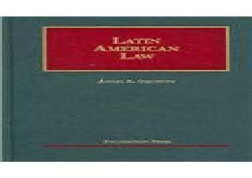 Latin American Law (University Casebook)
