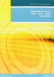 Applied Behavior Analysis: Pearson New International Edition