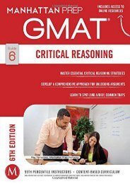 Critical Reasoning GMAT Strategy Guide (Manhattan Prep GMAT Strategy Guides)