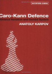 Caro-Kann Defence: Advance Variation and Gambit (Batsford Chess Books)