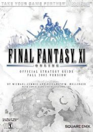 Final Fantasy XI (Brady Games Official Strategy Guide)
