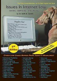 Issues in Internet Law: Society, Technology, and the Law, 9th Edition