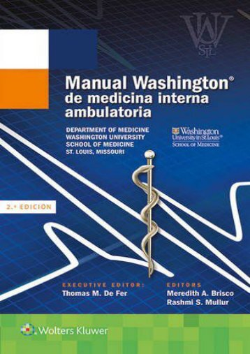 Manual Washington de medicina interna ambulatoria