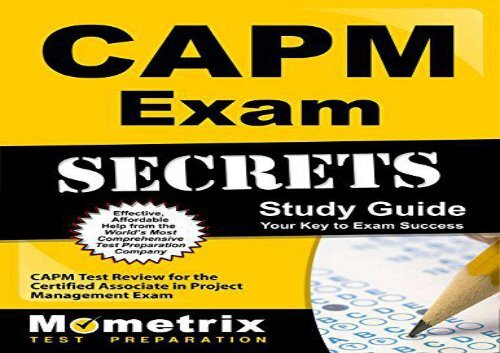 CAPM Exam Secrets Study Guide: CAPM Test Review for the Certified Associate in Project Management Exam