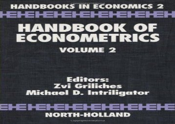 Handbook of Econometrics: Vol 2