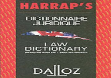 Harrap s Dalloz French Eng Law Dict (Harrap Dalloz)