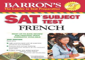 SAT Subject Test French: With 3 Audio CDs (Barron s SAT Subject Test French (W/CD))