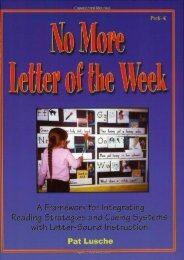 No More Letter of the Week, PreK-K: A Framework for Integrating Reading Strategies and Cueing Systems with Letter-Sound Introduction