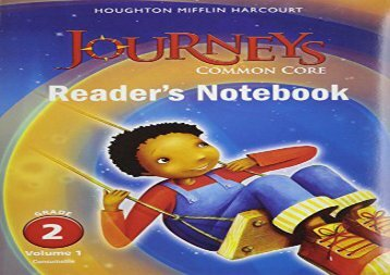 Houghton Mifflin Harcourt Journeys: Common Core Reader s Notebook Consumable Collection Grade 02