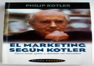 El marketing segun Kotler / the Marketing According to Kotler