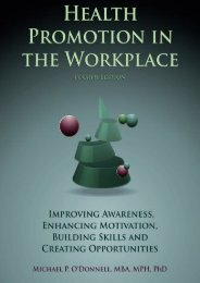 Health Promotion In The Workplace 4th edition