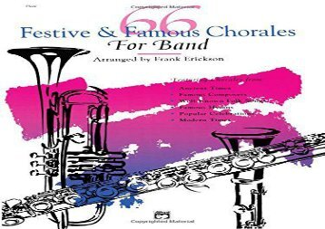 66 Festive   Famous Chorales for Band: Flute