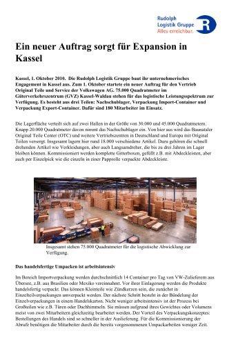 Ein neuer Auftrag sorgt für Expansion in Kassel - Rudolph Logistik ...