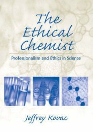 The Ethical Chemist (Prentice Hall Series in Educational Innovation)