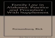 Family Law in Alabama: Practice and Procedure : With Supplement