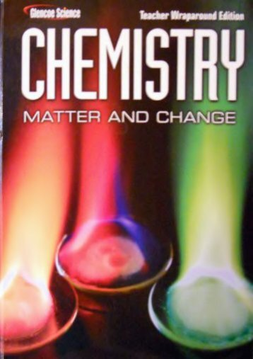 Glencoe Science: Chemistry Matter and Change Teacher Wraparound
