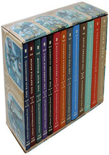 A Series of Unfortunate Events: The Complete Wreck (Books 1-13)