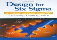 Design for Six Sigma in Technology and Product Development (Prentice Hall Six SIGMA for Innovation and Growth)