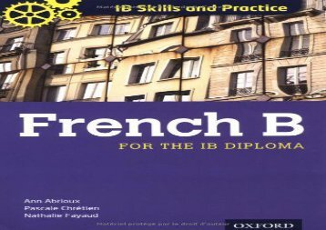 IB Skills and Practice: French B