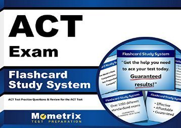 ACT Exam Flashcard Study System: ACT Test Practice Questions and Review for the ACT Test