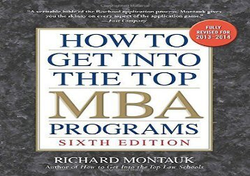 How to Get Into the Top MBA Programs