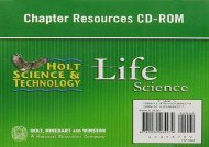 Holt Science   Technology: Chapter Resources CD-ROM Life Science
