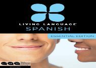 Living Language Spanish, Essential Edition: Beginner course, including coursebook, 3 audio CDs, and free online learning