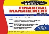 Schaum s Outline of Financial Management, Third Edition (Schaum s Outline Series)