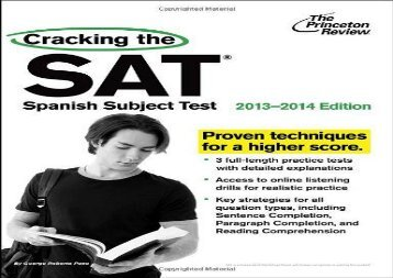 Cracking the SAT Spanish Subject Test (Princeton Review: Cracking the SAT Spanish Subject Test)